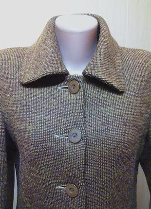 Шикарное пальто,жакет,кардиган,шерсть,английский бренд.44-46р.