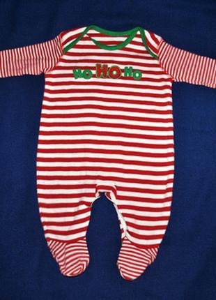 Новогодний котоновый человечек помощника санты на новорожденного