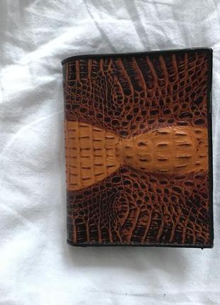 Кошелёк бумажник винтаж кожа крокодила на подарок