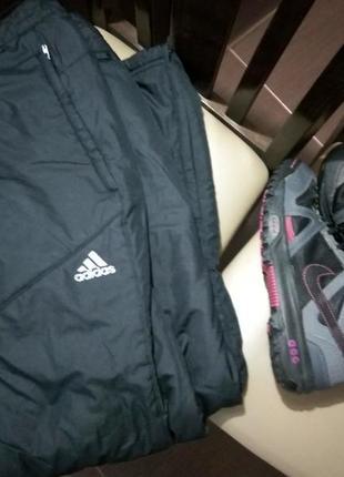 Одним лотом! зимний набор! штаны adidas s + nike acg goretex 25 cм!