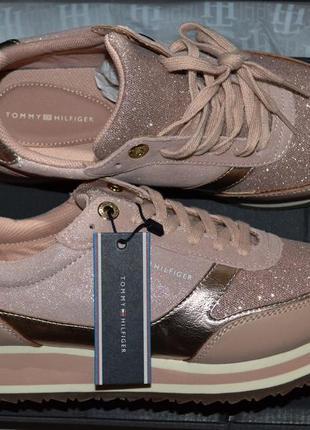 Кожаные кроссовки tommy hilfiger 39 р