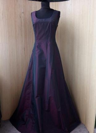Вечернее / выпускное длинное платье estelle франция цвета марсала s/m