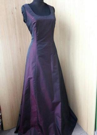 Вечернее / выпускное длинное платье estelle франция цвета марсала s/m2