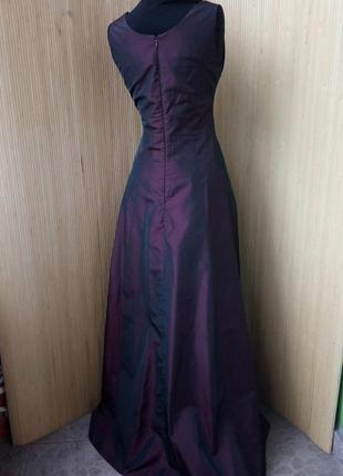 Вечернее / выпускное длинное платье estelle франция цвета марсала s/m3