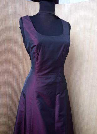 Вечернее / выпускное длинное платье estelle франция цвета марсала s/m4