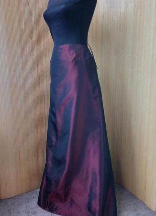 Длинная атласная юбка  your sixth sense c&a  цвета марсала2