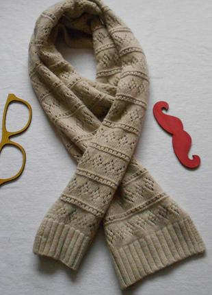 Шерстяной ажурный шарф gap  в идеале длина 200 см