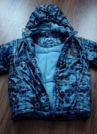 Куртка весна,демисезонна, осень детская, для мальчика 3-4 лет років на флісі