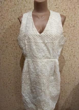 Короткое платье 52 размер