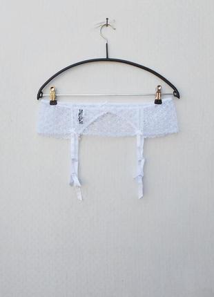 Белый кружевной сексуальный эротический пояс для чулок beldona