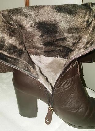 Сапоги натуральная кожа и цегейка (зима)