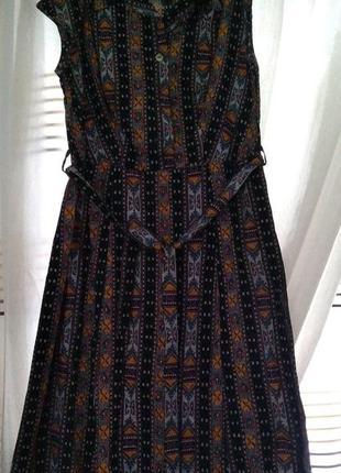 Стильное платье халат 100% хлопок р. 38 дышащее
