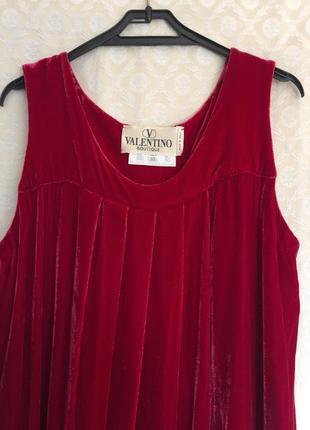 Valentino оригинал винтажное бархатное миди платье