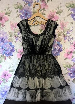Красивое платье на новый год,  гипюровое кружевное новогоднее платье estrella italy