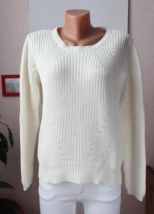 Белый хлопковый свитер vero moda м размер 38