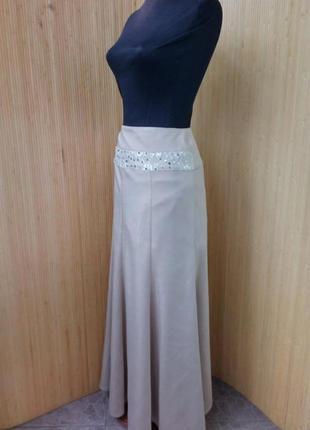 Пудровая длинна нарядная юбка с пайетками alvina l/xl2