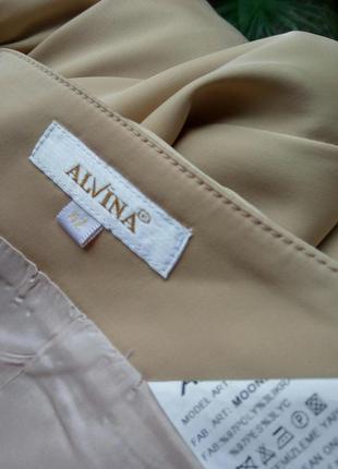 Пудровая длинна нарядная юбка с пайетками alvina l/xl4