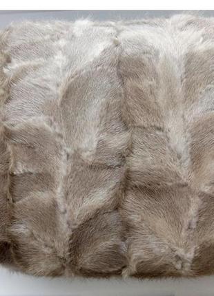 Сумка-муфта натуральный мех норки  24х30 см идеальное