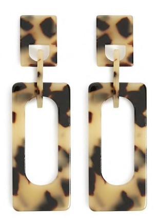 Леопардовые серьги