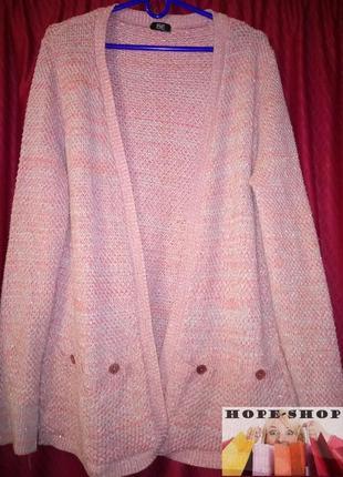 Симпатичная кофта без пуговиц ,меланжевый кардиган.20