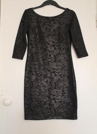 Нарядное черное платтье top secret. облегающее коктельное платье
