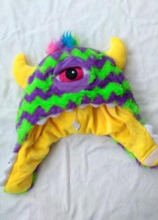 Шапка, ог 54-56, карнавальная шапочка, рождественская, новогодняя, маскарадная, монстр