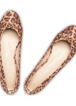 Леопардовые туфли балетки