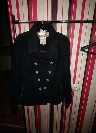 Двубортное пальто деми кашемир