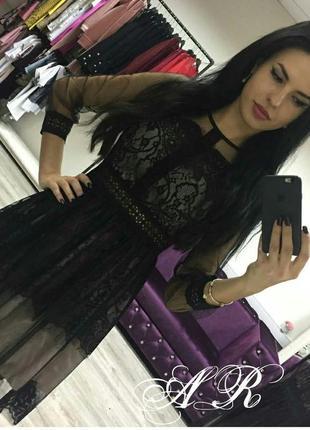 Нарядное кружевное платье шикарнейшее