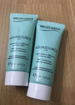 Крем гель для нормальной и комбинированной кожи aquasource gel biotherm
