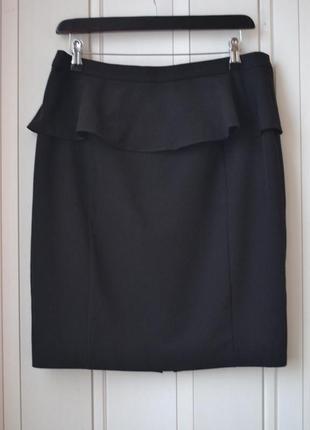 Черная юбка с баской