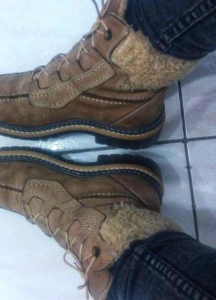 Ботинки коричневые беж зима осень ботильоны зимние кожа кожаные сапоги угги замшевые