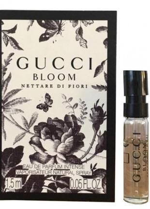 Gucci bloom nettare di fiori, пробник 1,5 мл, оригинал.