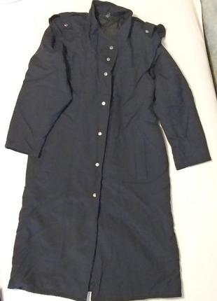 Темно-синее женское пальто