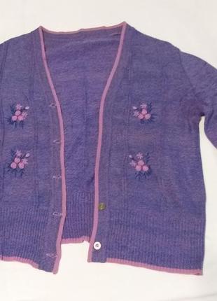 Фиолетовая женская кофта