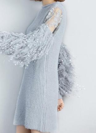 Вязаное женское платье, wer44