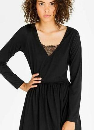 Платье нарядное черное сукня вечернее кружевное