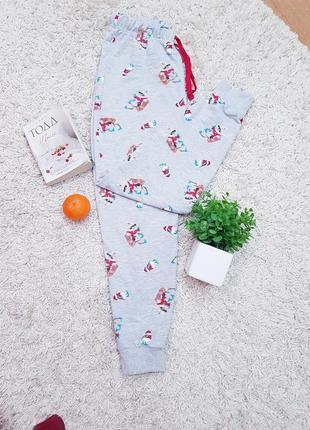 Одежда для дома, хлопковые штаны, f&f, принт новогодний,олени