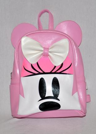 Розовый рюкзак с ушками микки мауса