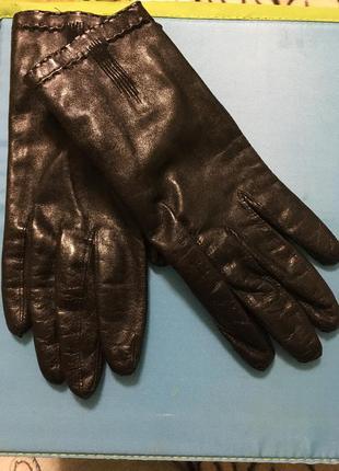 Кожаные демисезонные перчатки/шкіряні рукавички