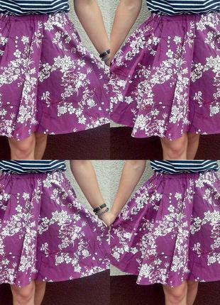 Пышная юбка-солнце с цветами