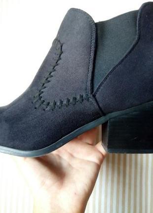 Atmosphere черные ботинки на среднем каблуке
