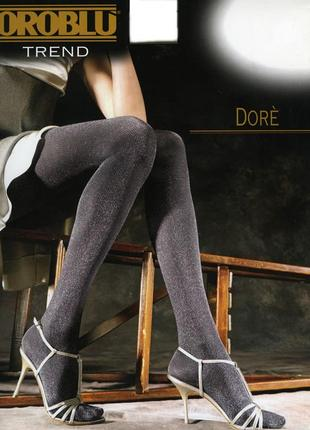 Шикарные фирменные элитные итальянские колготы с люрексом oroblu dore - 40den