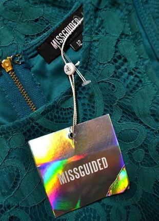Нежный кружевной зеленый костюм ,блуза и юбка missguided3 фото