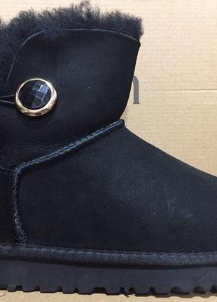 Женские угги ugg mini bailey button ornate boot black р.36-40