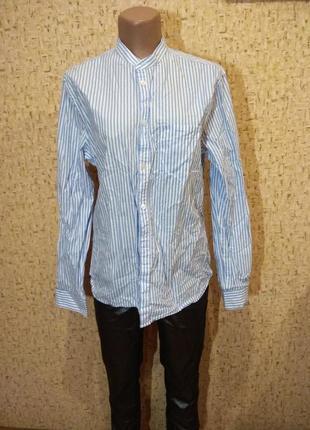 Рубашка h&m 46 размер  хлопок2