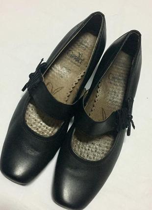 Удобные кожаные туфли, мокасины , р.38.5, состояние новых