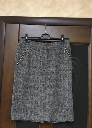 Актуальная демисезонная юбка-карандаш от бренда office girle на наш 46-48. супер!