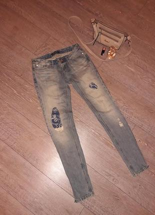 Зауженные укороченные джинсы fracomina
