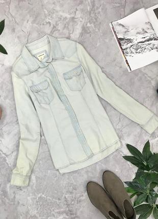 Джинсовая рубашка из светлого денима  bl1851110 h&m